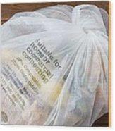 Biodegradable Plastic Bag Wood Print