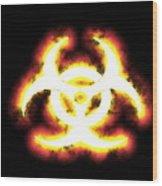 Biohazard Sign Wood Print
