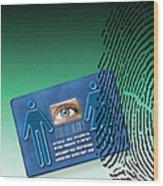 Biometric Id Card Wood Print