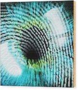 Biometric Identification Wood Print by Pasieka