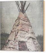 Birch Teepee Wood Print