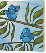 Bird Branch2 Wood Print by Melisa Meyers