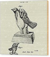 Bird In The Hand Coin Bank 1943 Patent Art Wood Print