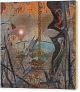 Bird Lady Wood Print