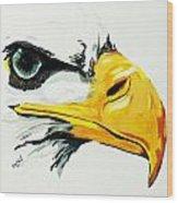 Bird Of Prey  Eagle Wood Print