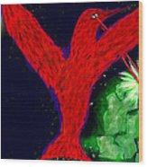 bird of Superman Wood Print