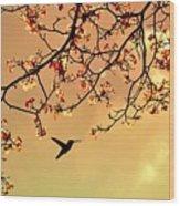 Bird Singing In The Morning Sky Wood Print
