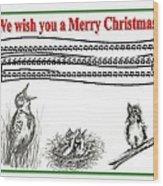 Bird Song For Christmas Wood Print