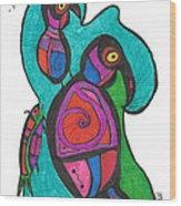 Birdfish Watch Wood Print