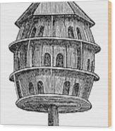 Birdhouse, 19th Century Wood Print