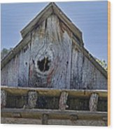 Birdhouse In Cambria Wood Print