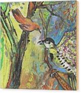 Birds 03 Wood Print