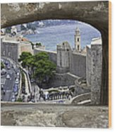Bird's Eye View Of Dubrovnik Wood Print