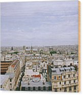Panoramic Paris Wood Print