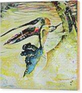 Birds Love Dance Wood Print