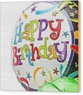 Birthday Balloons Wood Print by Tom Gowanlock