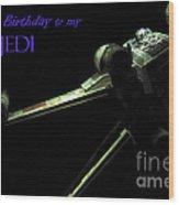 Birthday Card Wood Print