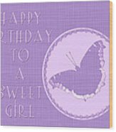 Birthday Girl Greeting Card - Mourning Cloak Butterfly Wood Print