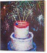 Birthday In America Wood Print