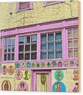 Colorful Building Bisbee Az Wood Print