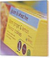 Biscuit Packaging Wood Print