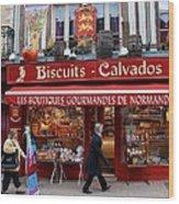 Biscuits And Calvados Wood Print