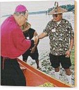 Bishop Arrives Wood Print