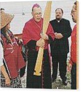 Bishop Arrives Two Wood Print