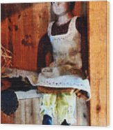 Bisque Doll Wood Print