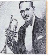 Bix Beiderbecke 1929 Wood Print by Mel Thompson