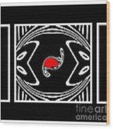 Minimalism Black White Red Abstract Art No.171. Wood Print