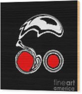 Black And White And Red Abstract Art No.205. Wood Print