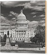 Black And White Capitol Wood Print