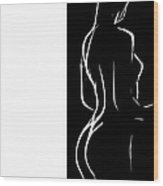 Black And White Erotic Wood Print