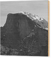 Black And White Half Dome Wood Print