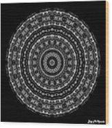 Black And White Mandala No. 3 Wood Print