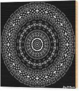 Black And White Mandala No. 4 Wood Print