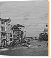 Black And White Venice 3 Wood Print