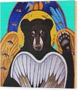 Black Bear Seraphim Photoshop Wood Print