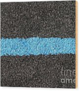 Black Blue Lawn Wood Print