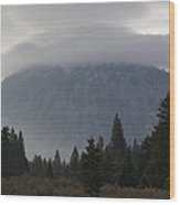 Black Butte With Lenticular Cap Wood Print