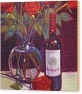 Black Cherry Bouquet Wood Print