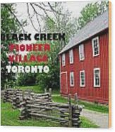 Black Creek Poster Wood Print