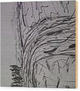 Black Day Wood Print