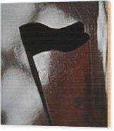 Black Flag Wood Print by Odd Jeppesen