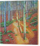 Black Forest Sunset Wood Print
