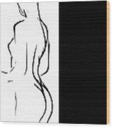 Black Girl White World Wood Print