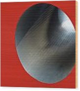 Black Hole Wood Print