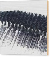 Black Mascara Wood Print by Blink Images