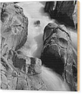 Black River Cascade Detail Wood Print
